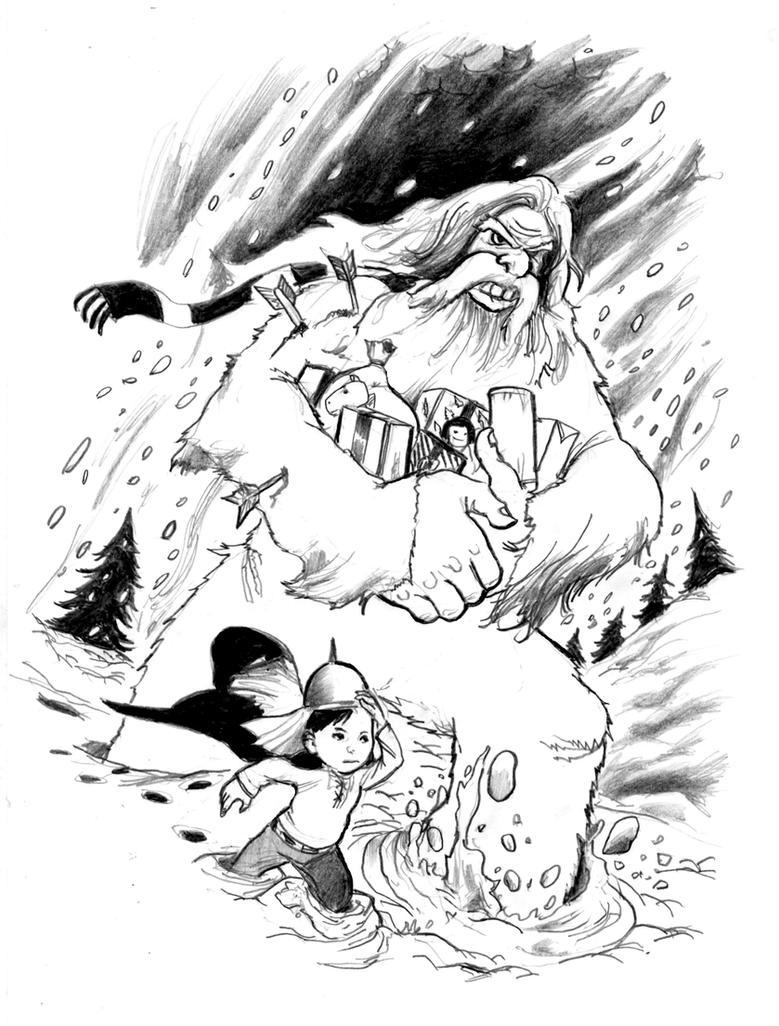 A Christmas Yeti by cluedog