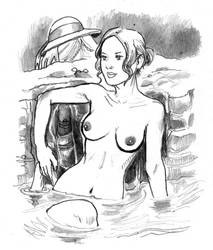 The Bather by cluedog