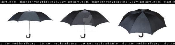 Old Black Umbrella Cut out 2 by ManicHysteriaStock