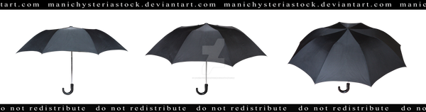 Old Black Umbrella Cut out 2