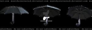 Old Black Umbrella Cut out 3