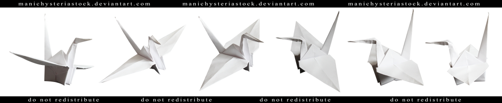 Paper Crane Cut Out by ManicHysteriaStock
