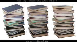 Stack of Books Cut Out 3