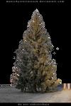 Fir tree partially masked