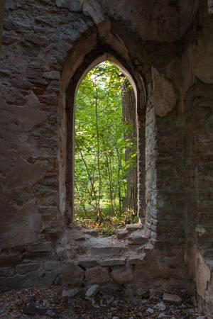 Gothic Window 3 by ManicHysteriaStock