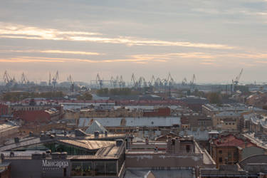 Cityscape Roofs 30 by ManicHysteriaStock