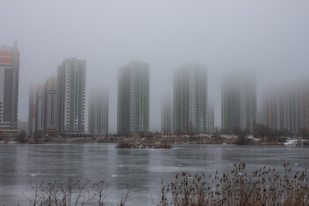 Fog in the city 8