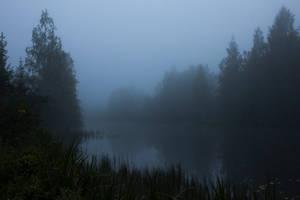 Foggy Lake Twilight 5 by ManicHysteriaStock
