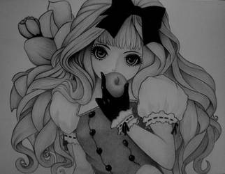 CUTE GIRL by sinsenor