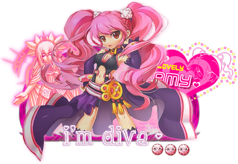 [ Sign ] Amy - I'm Diva (Grand Chase) by D-Strawberrypie