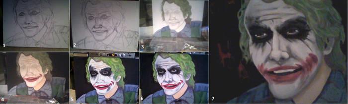 heath ledger joker painting by eternallost