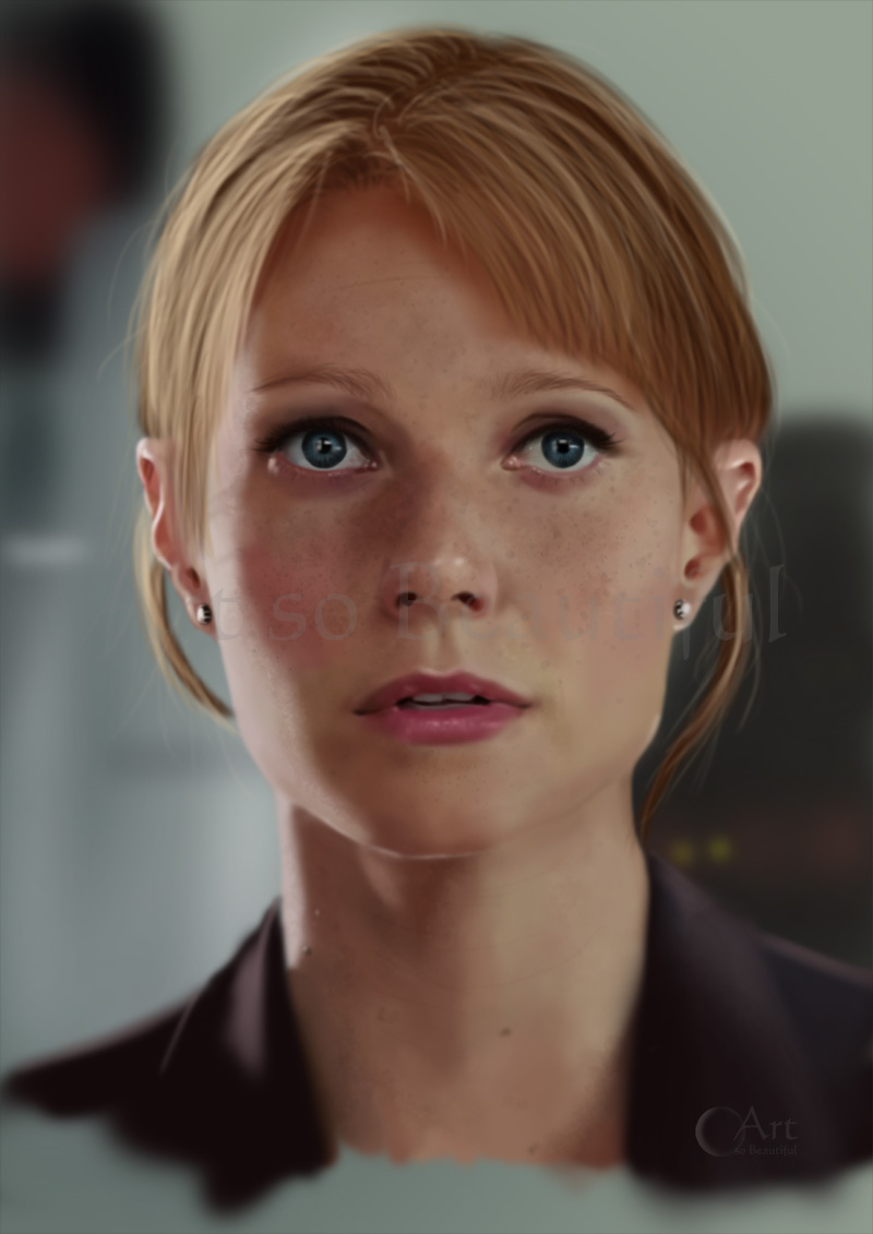 A Painting of Pepper Potts by jht888