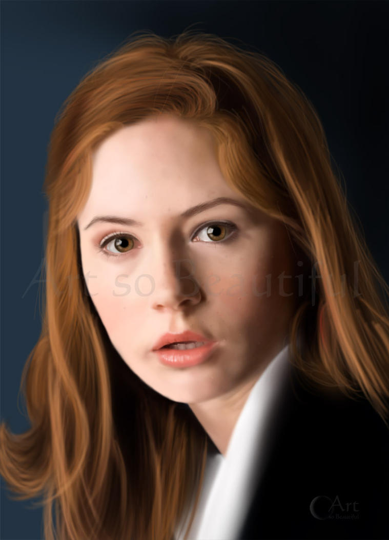 A painting of Dr Who's Amy Pond by jht888