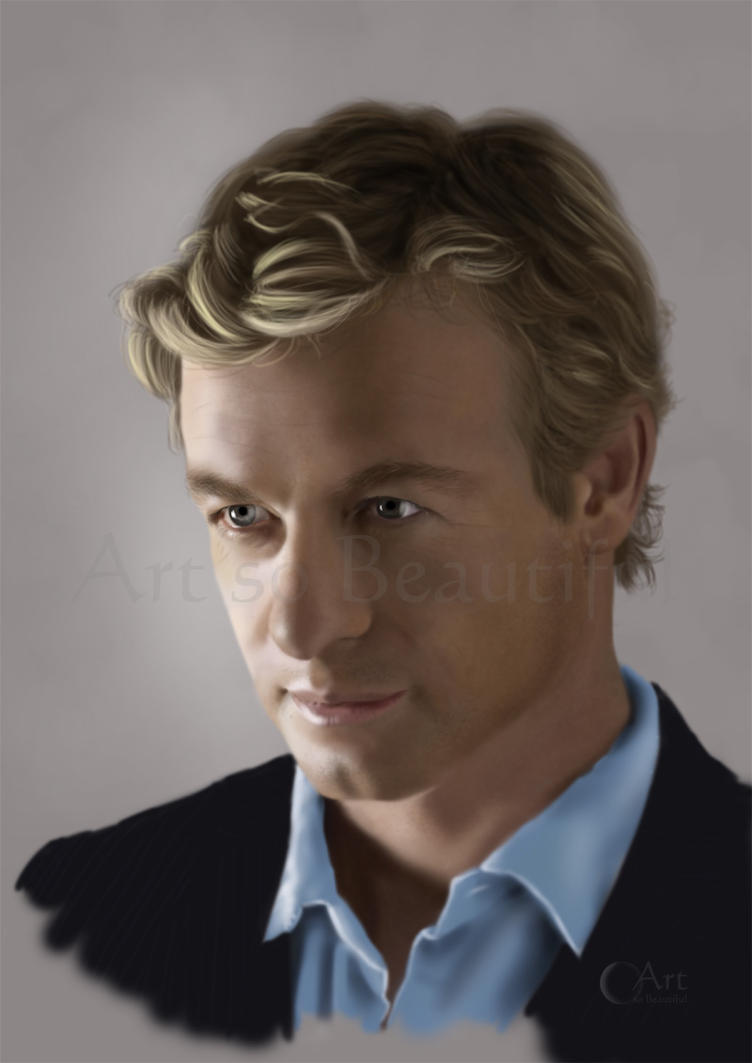 A Painting of Patrick Jane from The Mentalist by jht888