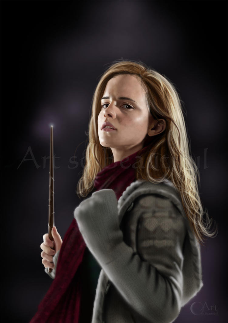 A Painting of Hermione Granger from Harry Potter by jht888