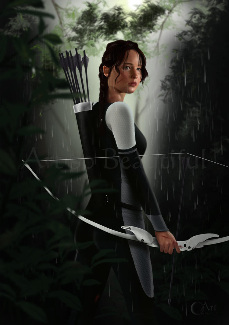 Painting of Katniss from 'Catching Fire' by jht888