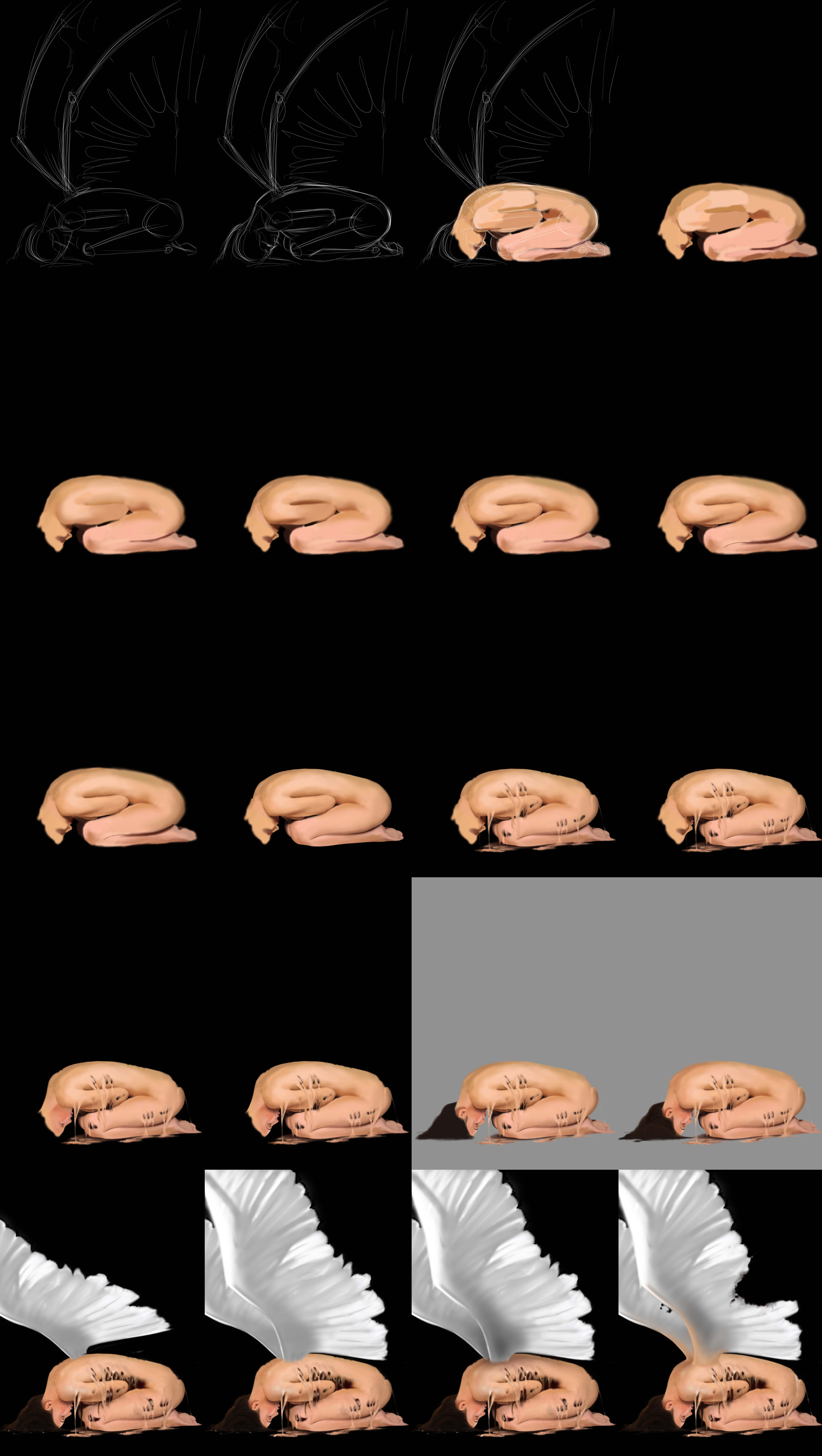 Blending skin tutorial of a Fallen Angel by jht888