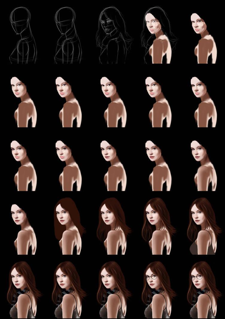 Amy Pond Steps/Tutorial by jht888
