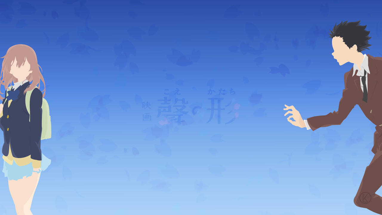 Koe No Katachi Wallpaper Blue Background By Luthfiak On Deviantart