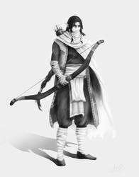 Desert elf (request) by Sanguynne