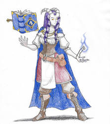 Tiefling Warlock (Commission 160123)