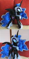 Nightmare Moon plush - spread wings by MalwinaHalfMoon
