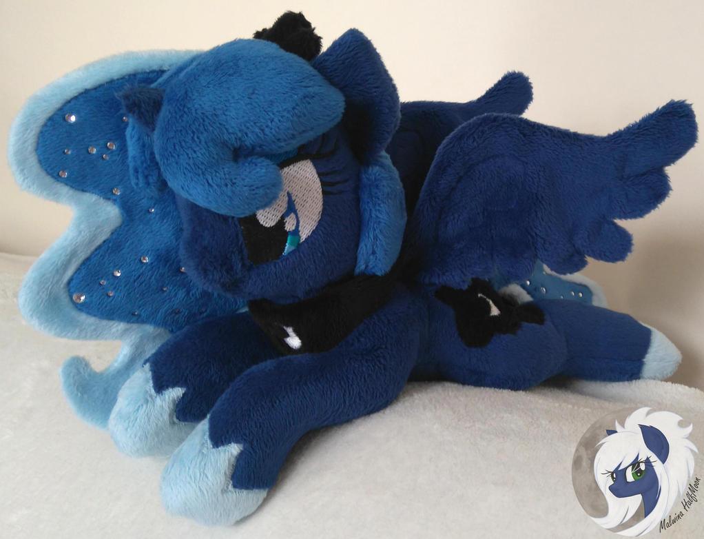 [FOR SALE] Princess Luna pony plushie by MalwinaHalfMoon