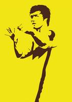 Bruce Lee silhouette