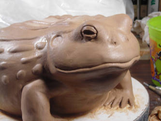 African bullfrog sculpture by onedge30