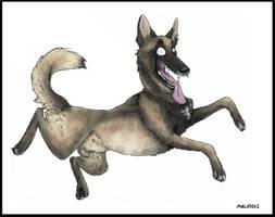 German Shepherd on crack by sp00nd