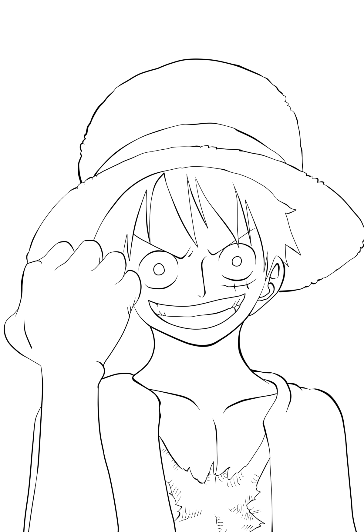 Luffy Lineart : Onepiece cover luffy lineart by dreamdsiner on deviantart