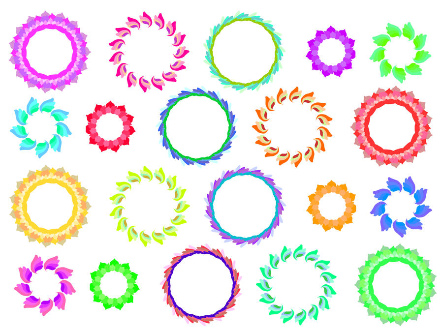 161 circle frames colours by tigers stock