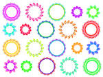 161 circle frames colours