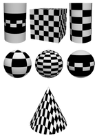 255 3d objects in chequerboard by Tigers-stock