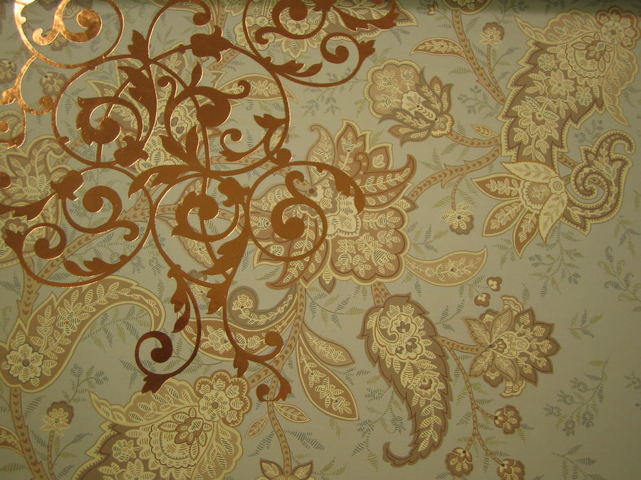 309 Gold Paisley by Tigers-stock