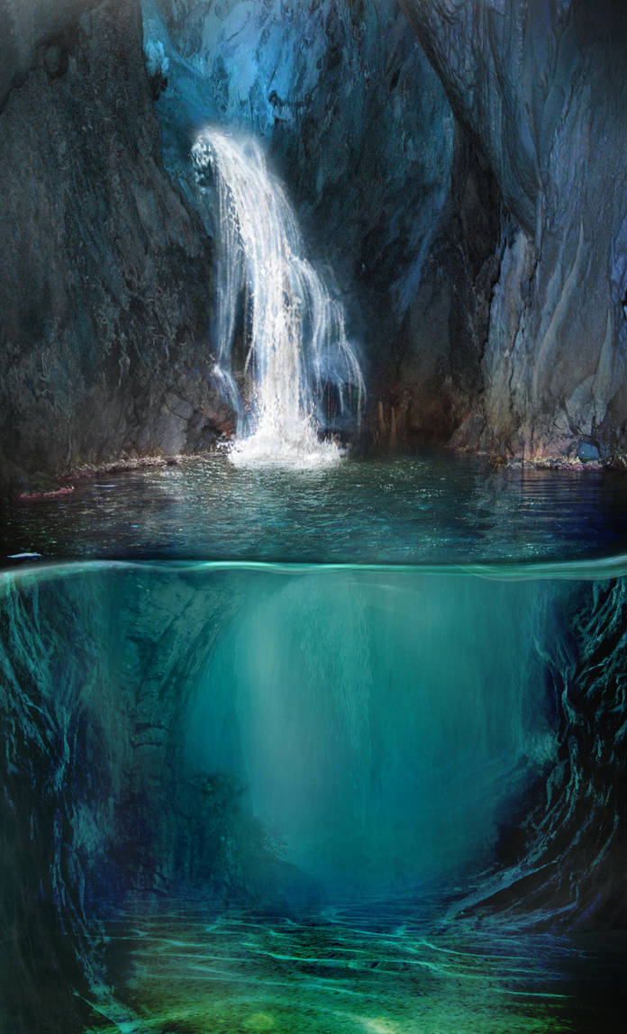 886 Flooded Cavern by Tigers-stock