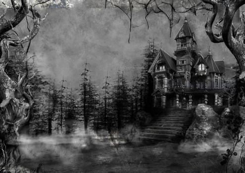 985 Haunted House Background