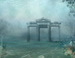 1018 Underwater Ruins 01 by Tigers-stock