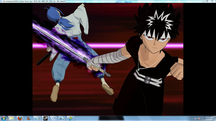 hiei vs shishiwakamaru by gamearteditedart on deviantart