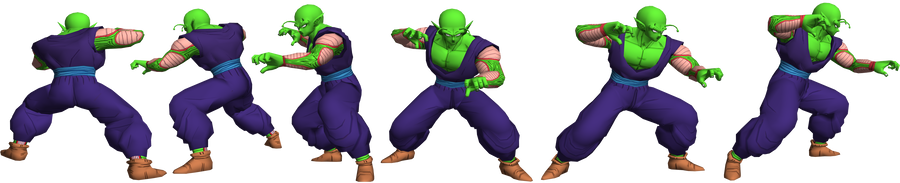Piccolo model 1 reference by GAME-ART-EDITED-ART