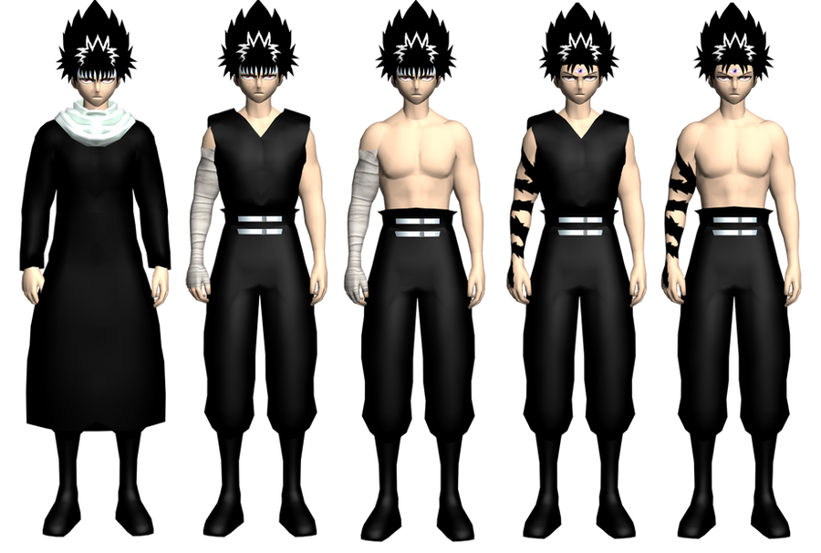 hiei's models demo by GAME-ART-EDITED-ART