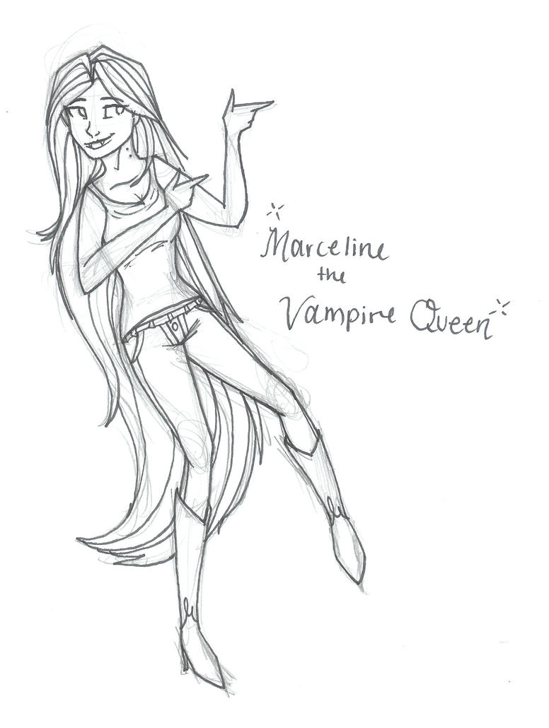 Marceline the vampire queen by ashleetheepic on deviantart for Marceline coloring pages