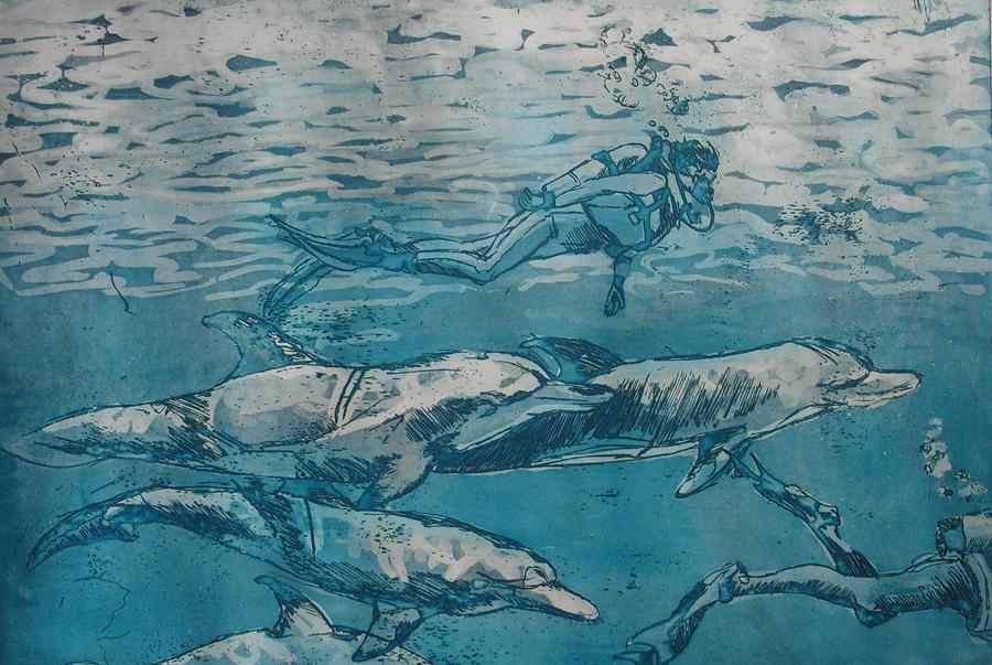 2 Dolphins by MonikaSikora