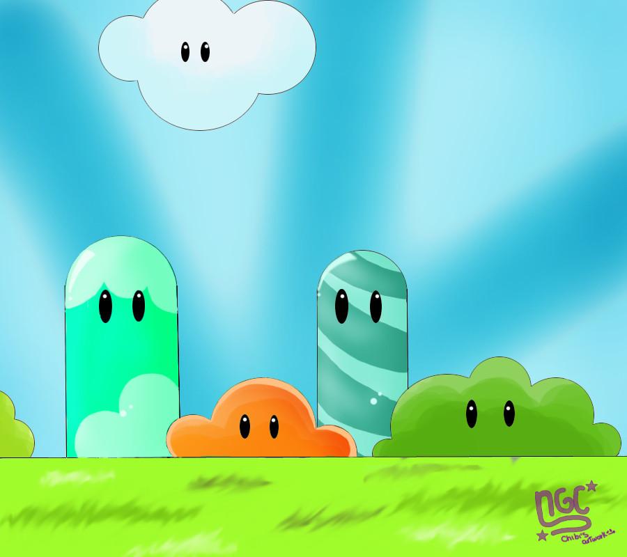 .:Mario Background:. By NewbieGirlChibi On DeviantArt