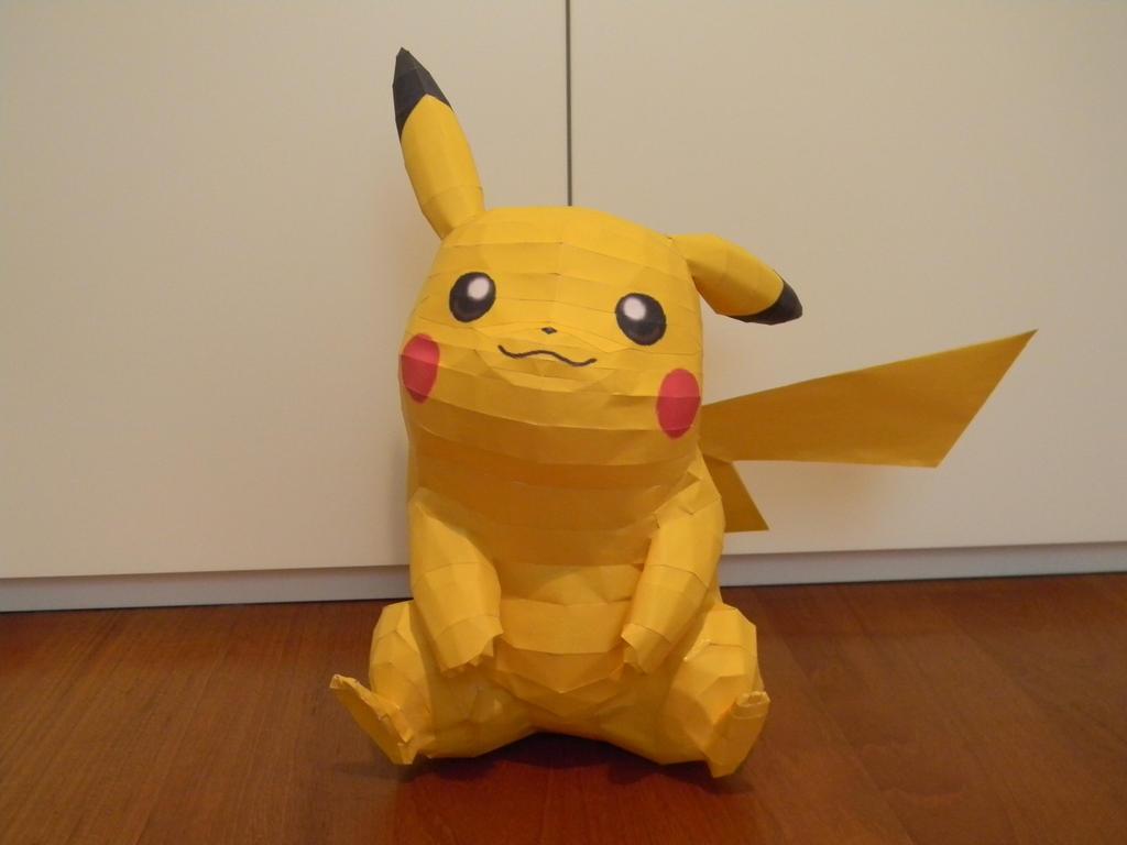 Life Size Pikachu Papercraft By Cucurbio