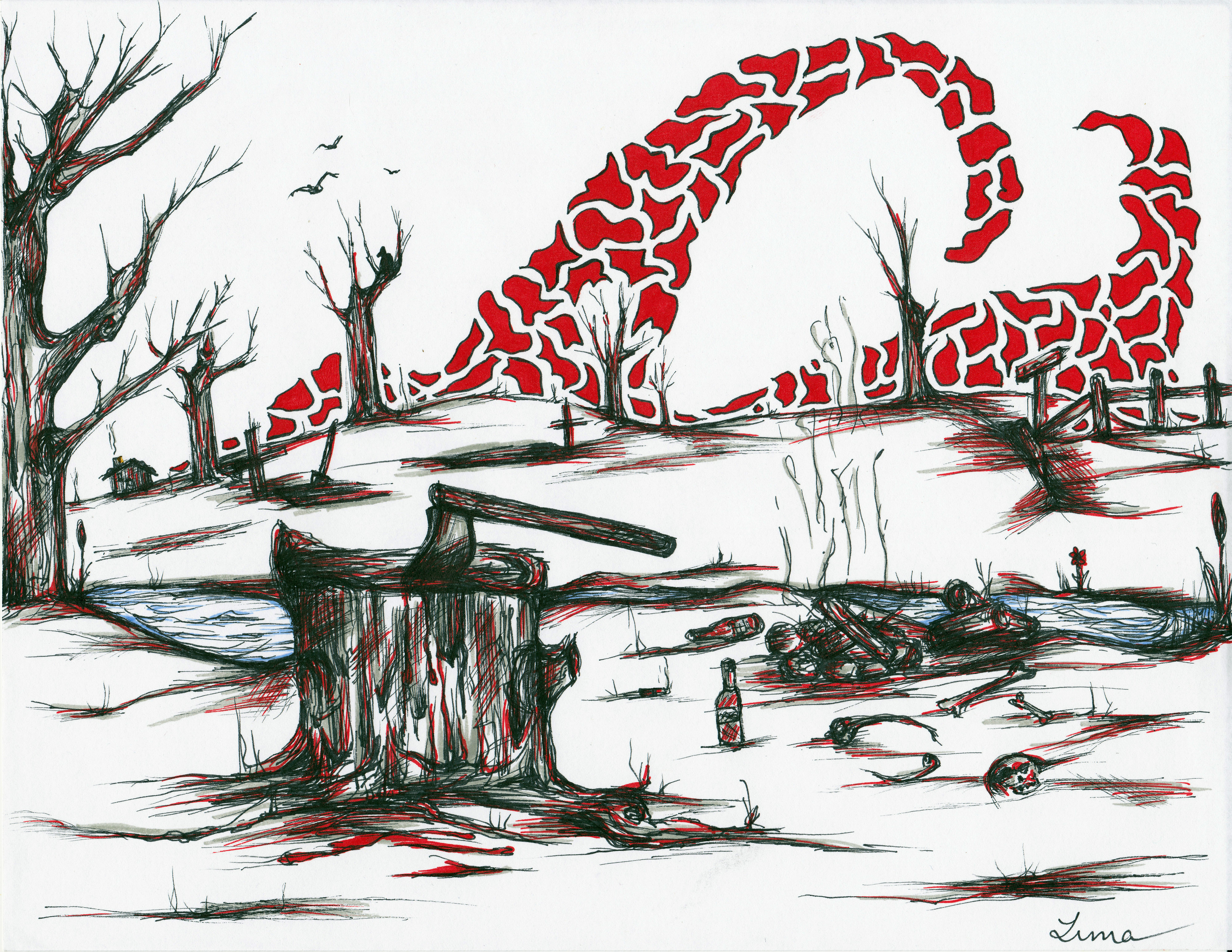 'Chopping Block - The Red 4' by graffitica