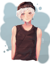i drew a male for once #2 by ayec