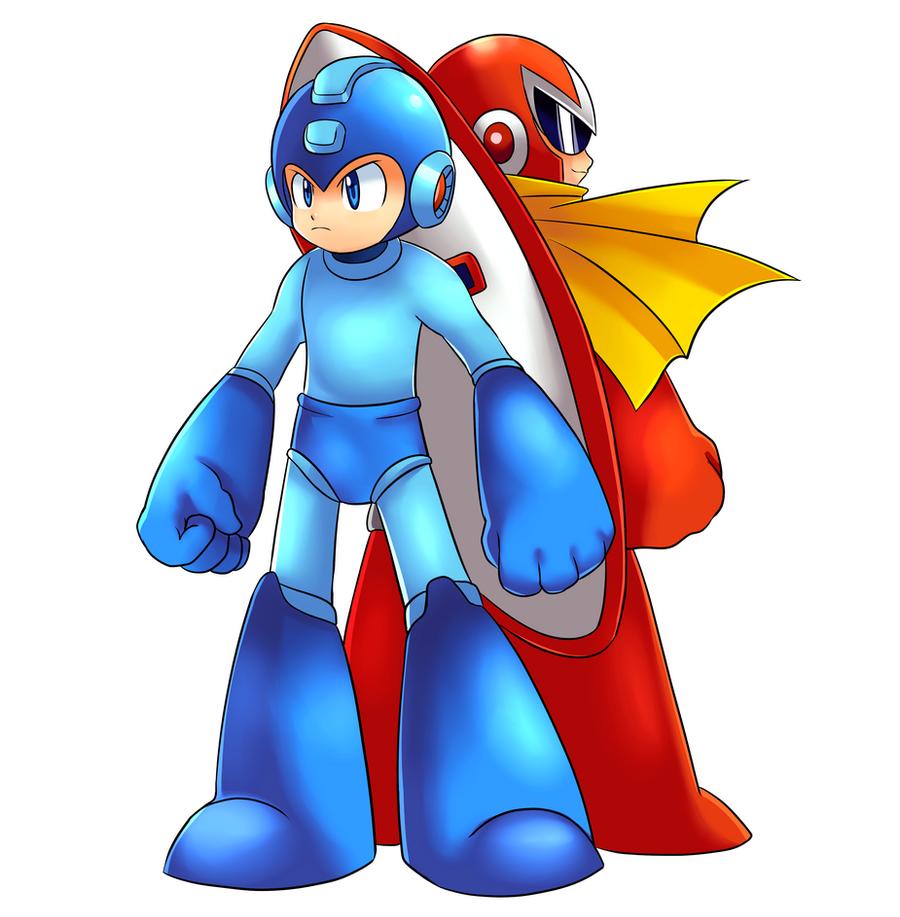Megaman And Protoman by CheloStracks