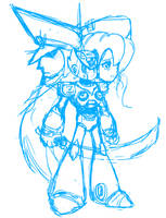 Megaman X4 [Sketch] by CheloStracks