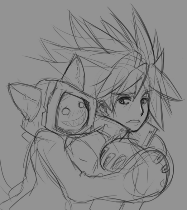 Ragna and Taokaka [Sketch] by CheloStracks on DeviantArt